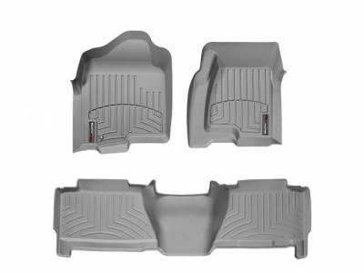 Interior Accessories - Accessories - WeatherTech - WeatherTech 2004-2007 Chevrolet/GMC Crew Cab Floor Liner 1st & 2nd Row-Grey