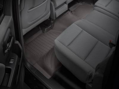 Interior Accessories - Accessories - WeatherTech - WeatherTech 2015-2016 Chevrolet/GMC Crew Cab Floor Liner 2nd Row-Cocoa