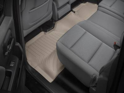 Interior Accessories - Accessories - WeatherTech - WeatherTech 2015-2016 Chevrolet/GMC Crew Cab Floor Liner 2nd Row-Tan