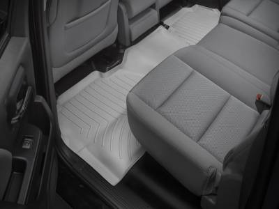 Interior Accessories - Accessories - WeatherTech - WeatherTech 2015-2016 Chevrolet/GMC Crew Cab Floor Liner 2nd Row-Grey