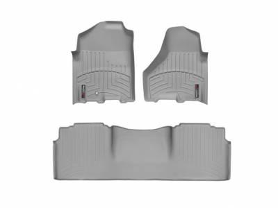Interior Accessories - Accessories - WeatherTech - WeatherTech 2010-2012 Dodge Ram Mega Cab Floor Liner 1st & 2nd Row-Grey