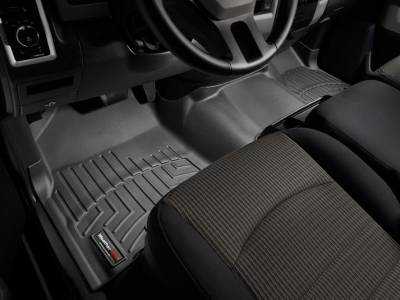 WeatherTech - WeatherTech 2009-2011 Dodge Ram Crew Cab Floor Liner 1st Row Over The Hump-Black