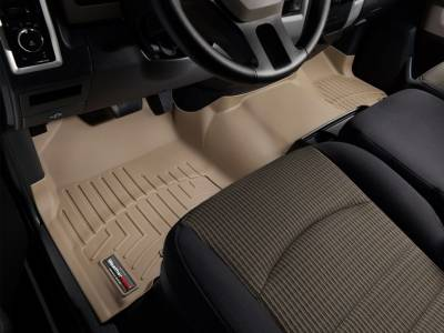 WeatherTech - WeatherTech 2009-2011 Dodge Ram Crew Cab Floor Liner 1st Row Over The Hump-Tan