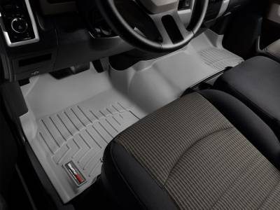 WeatherTech - WeatherTech 2009-2011 Dodge Ram Crew Cab Floor Liner 1st Row Over The Hump-Grey