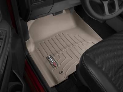 Interior Accessories - Accessories - WeatherTech - WeatherTech 2012-2017 Dodge Ram Floor Liner 1st Row-Tan (Driver & Passenger-Side Floor Hooks)