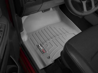 Interior Accessories - Accessories - WeatherTech - WeatherTech 2012-2017 Dodge Ram Floor Liner 1st Row-Grey (Driver & Passenger-Side Floor Hooks)