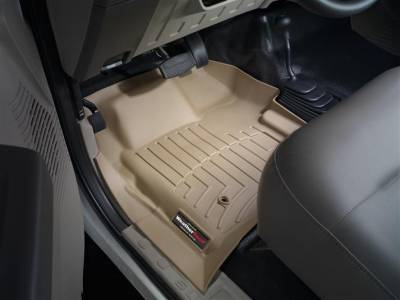 WeatherTech - WeatherTech 2008-2010 Ford Floor Liner 1st Row-Tan- with 4X4 Floor Shifter