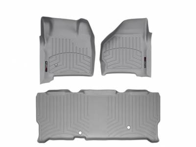 WeatherTech - WeatherTech 1999-2007 SuperCab Ford Floor Liner 1st & 2nd Row-Grey- (without floor shifter)