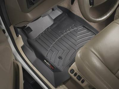 WeatherTech - WeatherTech 1999-2007 SuperCab & SuperCrew Ford Floor Liner 1st Row-Black- (without floor shifter)