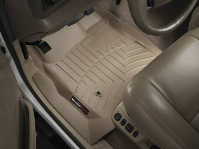 WeatherTech - WeatherTech 1999-2007 SuperCab & SuperCrew Ford Floor Liner 1st Row-Tan- (without floor shifter)