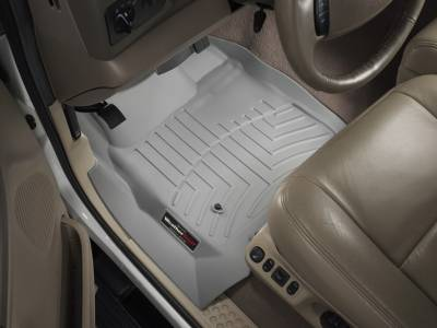 Interior Accessories - Accessories - WeatherTech - WeatherTech 1999-2007 SuperCab & SuperCrew Ford Floor Liner 1st Row-Grey- (without floor shifter)