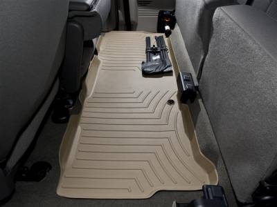 Interior Accessories - Accessories - WeatherTech - WeatherTech 1999-2010 SuperCab Ford Floor Liner 2nd Row-Tan