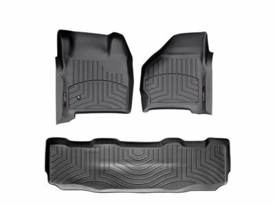 WeatherTech - WeatherTech 1999-2007 SuperCrew Ford Floor Liner 1st & 2nd Row-Black- (without floor shifter)
