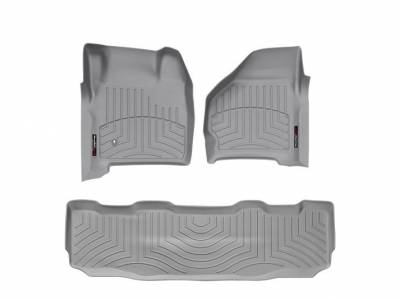 Interior Accessories - Accessories - WeatherTech - WeatherTech 1999-2007 SuperCrew Ford Floor Liner 1st & 2nd Row-Grey- (without floor shifter)