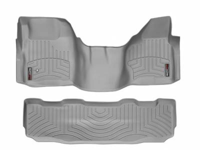 WeatherTech - WeatherTech 2008-2010 SuperCrew Ford Floor Liner 1st Row Over The Hump & 2nd Row-Grey