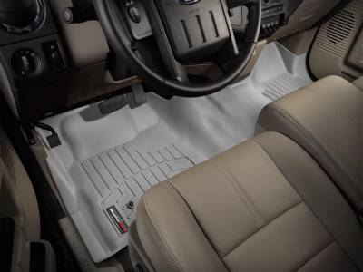 WeatherTech - WeatherTech 2008-2010 SuperCab & SuperCrew Ford Floor Liner 1st Row Over The Hump-Grey