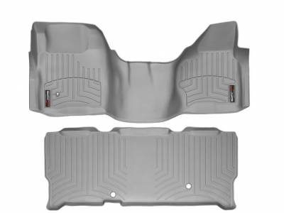 WeatherTech - WeatherTech 2008-2010 SuperCab Ford Floor Liner 1st Row Over The Hump & 2nd Row-Grey