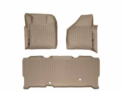 WeatherTech - WeatherTech 2008-2010 SuperCab Ford Floor Liner 1st Row & 2nd Row-Tan