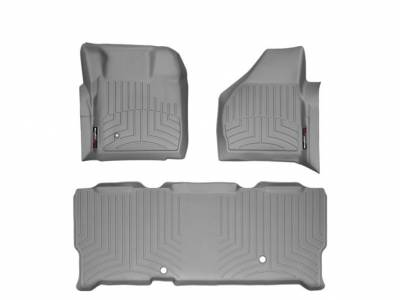 WeatherTech - WeatherTech 2008-2010 SuperCab Ford Floor Liner 1st Row & 2nd Row-Grey