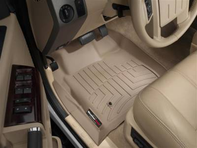 WeatherTech - WeatherTech 2008-2010 SuperCab Ford Floor Liner 1st Row-Tan