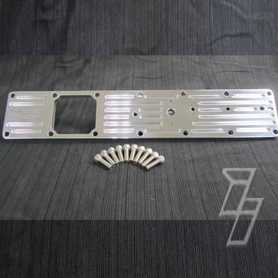 94-98 2nd Gen 12V 5.9 - Air Intake - Industrial Injection  - Industrial Injection 2003-2007 Cummins 5.9L Polished Billet Intake Plate