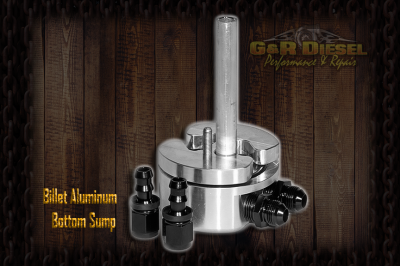 Fuel System - Aftermarket Fuel System - G&R Diesel - Billet Aluminum Bottom Sump W/ Integrated Return