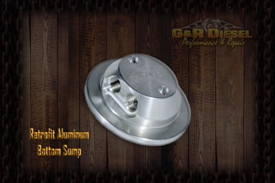 Fuel System - Aftermarket Fuel System - G&R Diesel - Bolt-In Retrofit Billet Aluminum Bottom Sump W/ Return