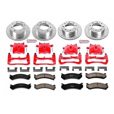 Power Stop - Powerstop 01-10 Duramax Front & Rear Brake & Caliper Kit (Single Wheel)
