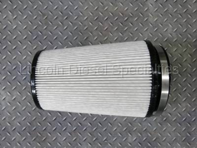 "07.5-10 LMM Duramax - Air Intake - WCFab - Wehrli Custom Fab Dry Air Filter 5"" Inlet (2001-2016)"