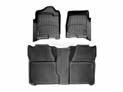 Interior Accessories - Accessories - WeatherTech - WeatherTech Duramax Crew Cab Front & Rear Laser Measured Floor Liners (Black) 2007.5-2014