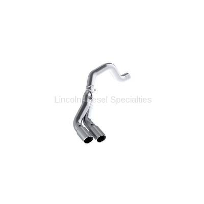 "Exhaust - Exhaust Systems - MBRP - MBRP Dodge/Cummins 4"" Filter Back, Dual Outlet, Single Side, Aluminized (2013-2018) (All Excl.CC/SB)"
