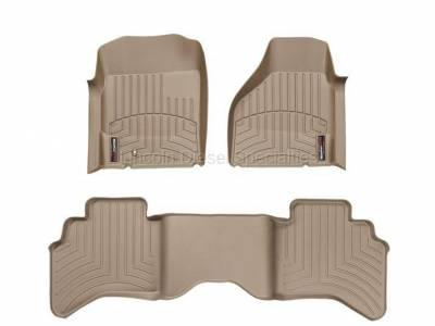 Interior Accessories - Accessories - WeatherTech - WeatherTech Dodge/Ram Front & 2nd Row Set,  Laser Measured Floor Liners (Tan) 2003-2009