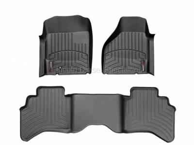 Interior Accessories - Accessories - WeatherTech - WeatherTech Dodge/Ram Front & 2nd Row Set, Crew Cab  Laser Measured Floor Liners (Black) 2012-2017