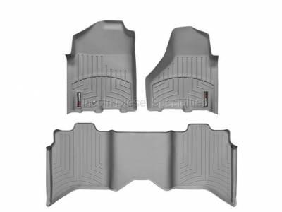 Interior Accessories - Accessories - WeatherTech - WeatherTech Dodge/Ram Front & 2nd Row Set, Crew Cab  Laser Measured Floor Liners (Grey) 2012-2017