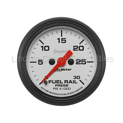 Instrument Gauges/Pods/Hardware - Gauges - Auto Meter - Auto Meter Phantom Series Fuel Rail Pressure Gauge