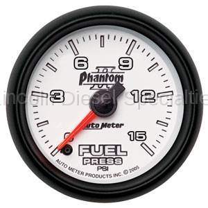 Instrument Gauges/Pods/Hardware - Gauges - Auto Meter - Auto Meter Phantom II Series Fuel Pressure Gauge (Universal)
