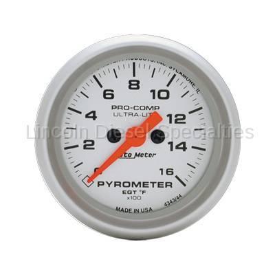 Instrument Clusters/Gauges - Gauges - Auto Meter - Auto Meter Ultra-Lite Pyrometer Gauge (0-1600 °F)