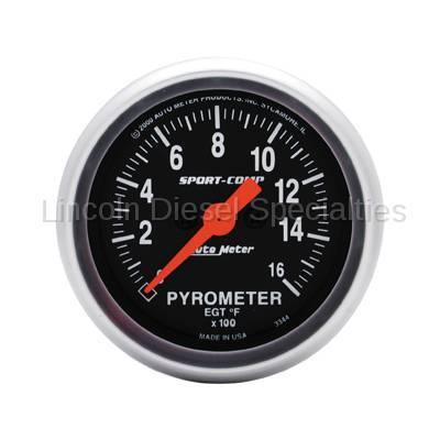 Instrument Clusters/Gauges - Gauges - Auto Meter - Auto Meter Sport-Comp Pyrometer Gauge (Universal)