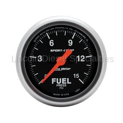 Instrument Clusters/Gauges - Gauges - Auto Meter - Auto Meter Sport-Comp Fuel Pressure Gauge