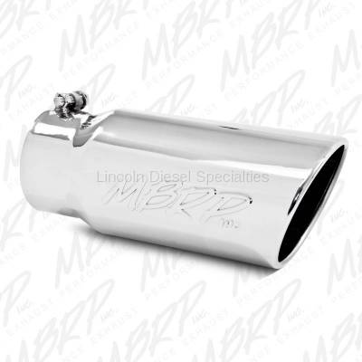 "Exhaust - Exhaust Tips - MBRP - MBRP Universal  5"" Angled Rolled End T304 Exhaust Tip ( 4"" Inlet,5"" Outlet)"