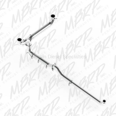 "Exhaust Systems - Stack Systems & Smoker Kits - MBRP - MBRP SMOKERS™ 5"" Installer Series Dual Down Pipe Back Aluminized Exhaust System, Includes Front Pipe*"