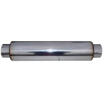 "Exhaust - Exhaust Hardware - MBRP - MBRP Universal Muffler 4' Inlet 4"" Outlet 24"" Body,T304 Stainless, 30"" Overall Length"