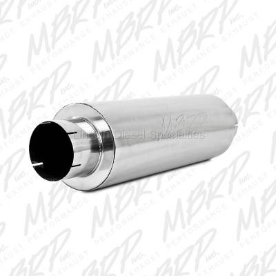 "Exhaust - Mufflers - MBRP - MBRP Universal Quiet Tone Muffler 5"" Aluminized Steel"