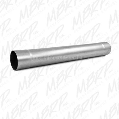 "2004.5-2007  24 Valve, 5.9L Late - Exhaust - MBRP - MBRP Universal 4"" Muffler Delete Pipe  4"" Inlet /Outlet 30"" Overall Length , Aluminized Steel"