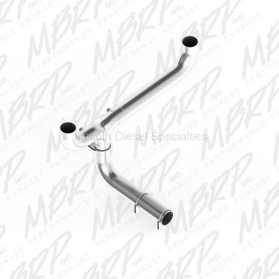 "Exhaust - Exhaust Systems - MBRP - MBRP SMOKERS™ Universal Installer Series 5""  Dual ""T"" Pipe Kit Aluminized Steel"