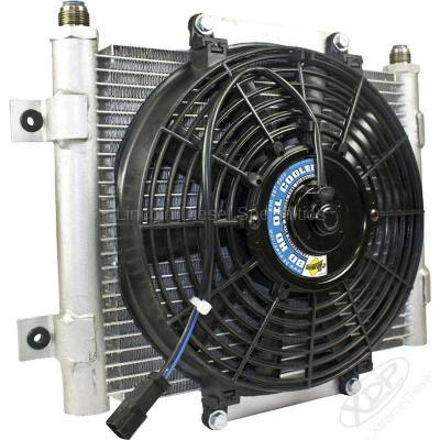 BD-Power Xtruded Auxiliary Trans Cool with Fan -10 JIC Male Connectioner  (Universal)