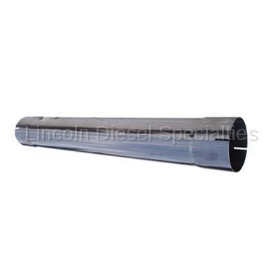 "Exhaust - Delete Pipes - Banks - Banks Power Universal 4"" Muffler Delete Pipe 4"" Inlet/Outlet 28.5 Overall Length, T409 Stainless Steel"