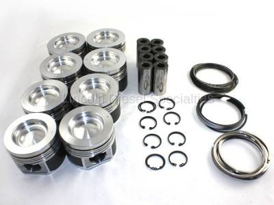Engine - Pistons & Rings - Mahle Motorsports - MAHLE Motorsports DeLipped /Coated Performance Cast Piston Kit STD 16.8CR No Pockets (2001-2016)