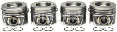 Engine - Pistons & Rings - Mahle OEM - MAHLE Duramax Left Bank Pistons w/Rings.040 (Set of 4)(2006-2010)