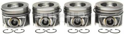 Engine - Pistons & Rings - Mahle OEM - MAHLE Duramax Left Bank Pistons w/ Rings .STD (Set of 4) (2006-2010)